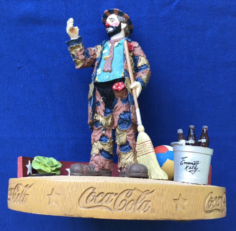 Coca Cola Emmett Kelly Pause for a Coke Stauton Arts # 2409 1st Limited Edition