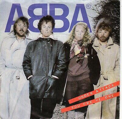 "ABBA. Under Attack. 7"" UK single. P/S.©1982 Epic."