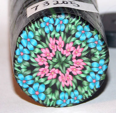 """polymer clay cane, raw, round  # 73205    7/8"""" x 2"""""""