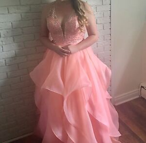Gorgeous two piece prom gown
