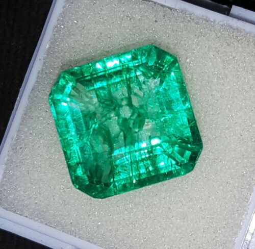 Natural Emerald Loose Gemstone Certified 10.00 Ct With Free Shipping