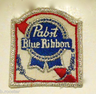 Pabst Blue Ribbon Beer Embroidered Patch 2-1/4 inches vintage