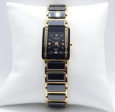 Working Akribos Black and Gold Genuine Diamond Watch on 6