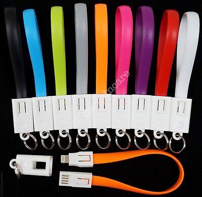 Keyring Charger Sync Cable Apple iPhone 5 6 7 8 X iPad iPod Lightning USB Key UK