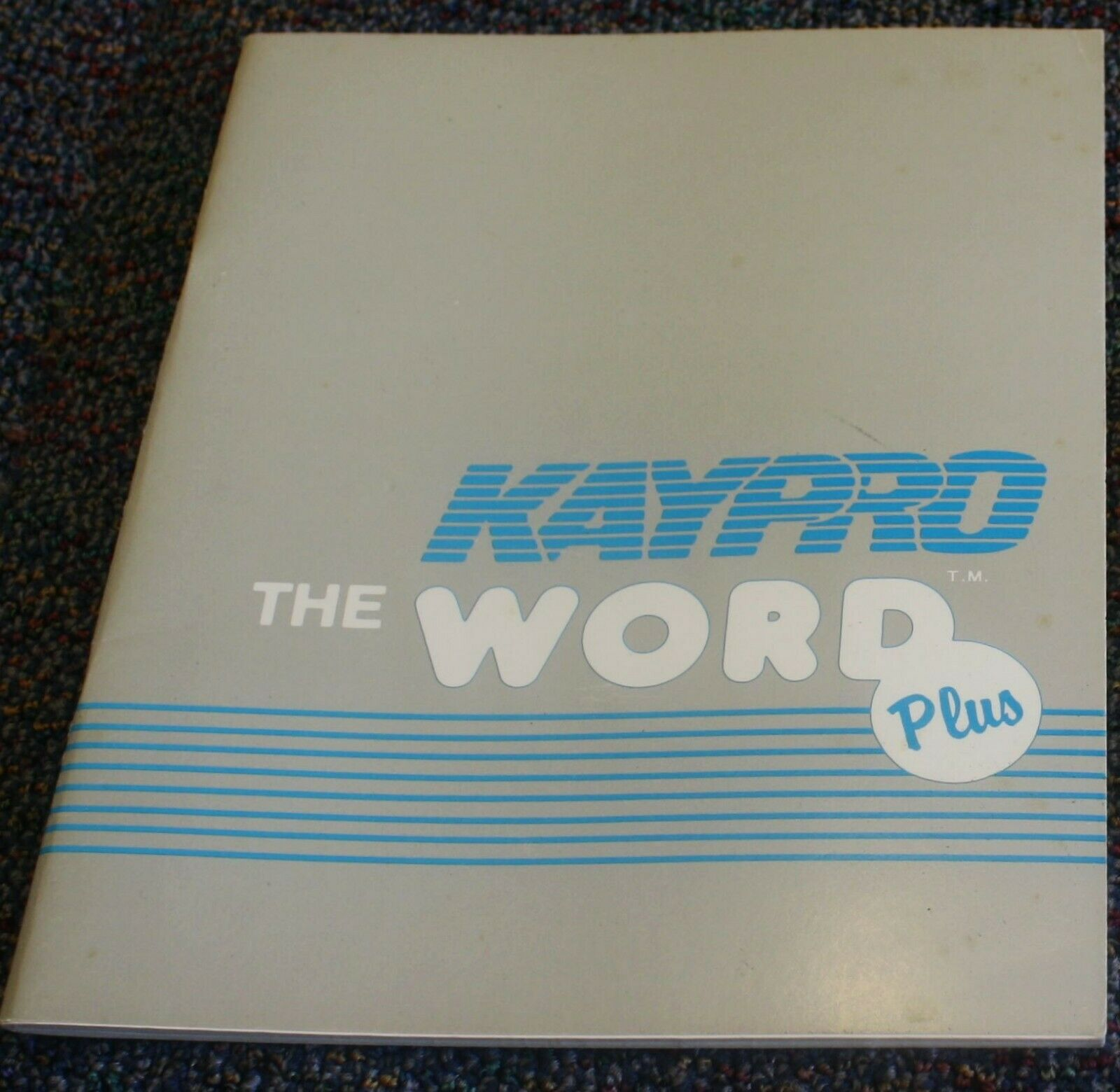 Kaypro 10 Spell Checker Software THE WORD PLUS 1982 V. 1.2 + MANUAL ONLY