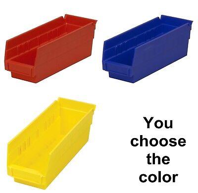 24 Pack 11 58 X 4 18 X 4 Plastic Inventory Storage Nest Shelf Parts Bins