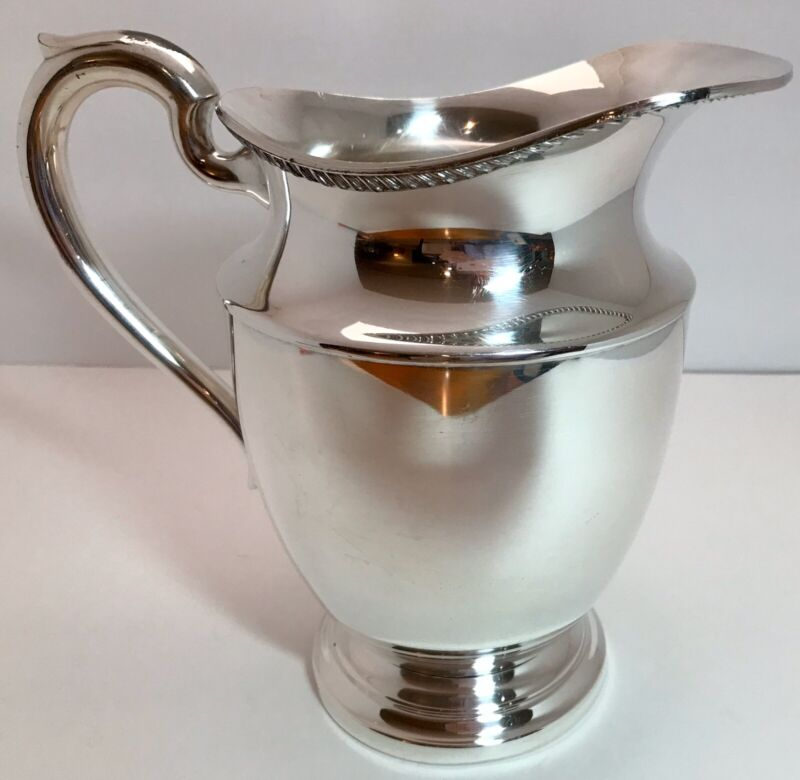 Vintage~ART SILVER CO~Silverplate Footed Water Pitcher~EXCELLENT Silver Plate