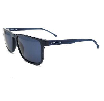 BOSS by Hugo Boss Sunglasses 0921S AVS Strip Blue Men 55x17x145