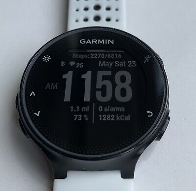 Garmin Forerunner 235 w/ 2 Charger Cables and 2  New Glass Screen Protectors