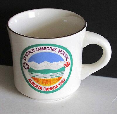 BSA BOY SCOUT Mug 1983 15th World Jamboree Mondial Alberta Canada FREE SH