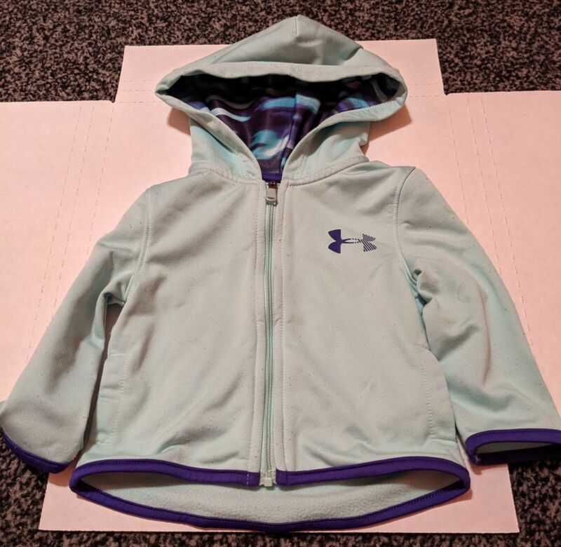 Girls Under Armour Mint Hooded Jacket 12 M