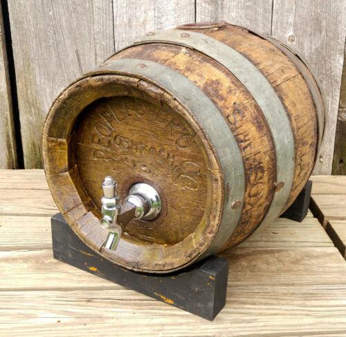 Antique Vintage Oak Pre Prohibition Peoples Brewing Co. Oshkosh WI Beer Barrel