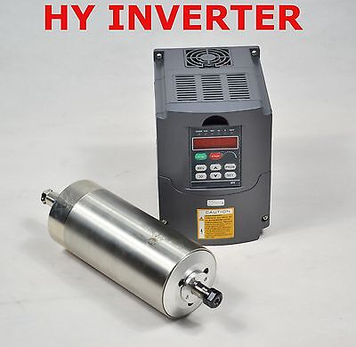110v 1.5kw Water-cooled Spindle Motor And Matching Drive Inverter Vfd Huanyang