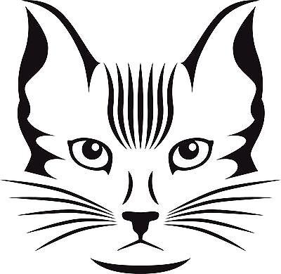 Katze 56  1 Aufkleber, Wandtattoo Autoaufkleber Türe  10 cm