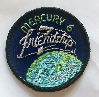Vintage 1962 Mercury 6 NASA Patch - Friendship - Glenn, 3 Inch embroidered NOS