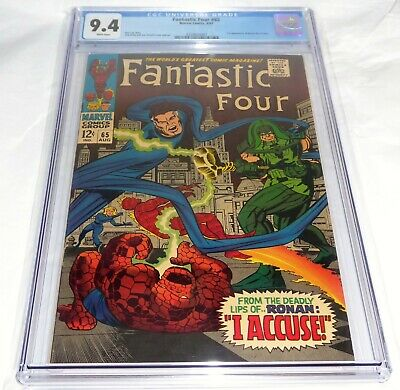 Fantastic Four #65 CGC Universal Grade Comic 9.4 1st Appearance of Ronan Accuser