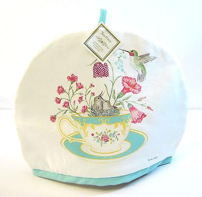 Alice's Cottage Cotton Tea Cozy Teacup Hummingbird Nest - NEW