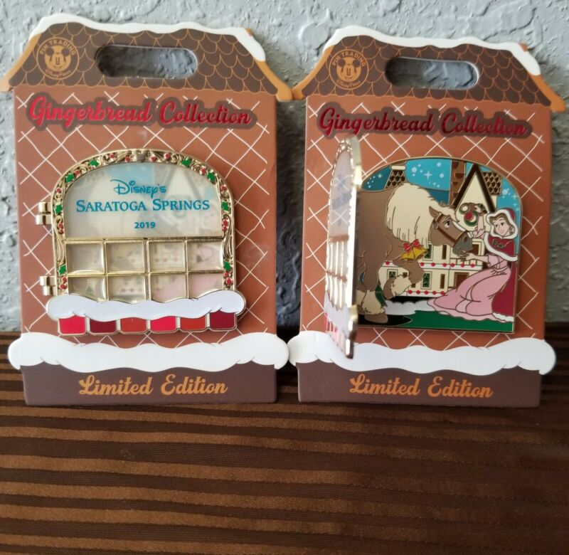 Disney Parks/Resort Gingerbread Pin Collection Saratoga Springs Belle Limited Ed
