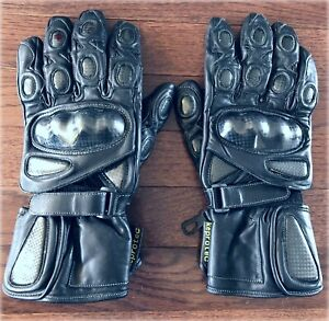 Leather Motorcycle Gloves - Size M/L