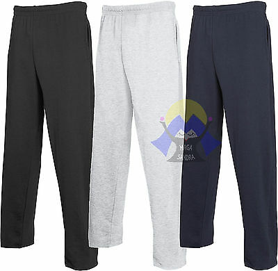 Pantaloni Leggeri da Uomo FRUIT OF THE LOOM Felpati FONDO DRITTO Tuta 64-038-0