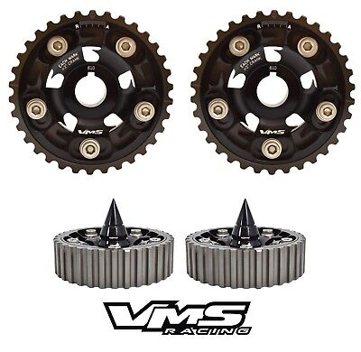 VMS RACING CAM GEAR BOLTS W// BULLETS BLACK FOR HONDA PRELUDE DOHC H22 H23