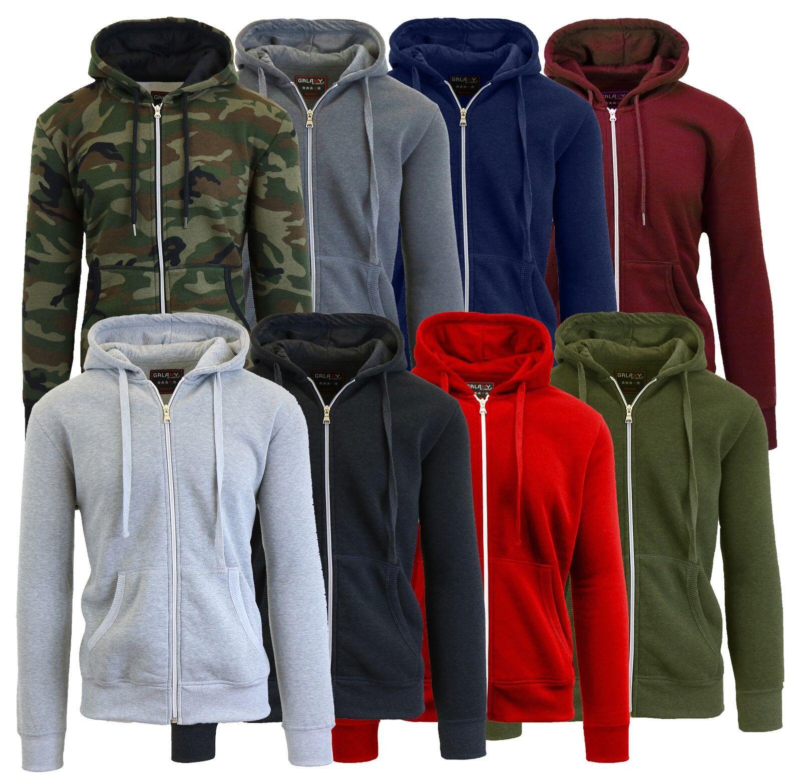 Mens Fleece Hoodie Jacket Sweater For Layering Warm Lounge F