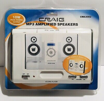 CRAIG Portable Powered Travel Speaker Dock for iPod Nano iPhone Zune MP3 Player