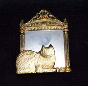 Cat Mirror Pin