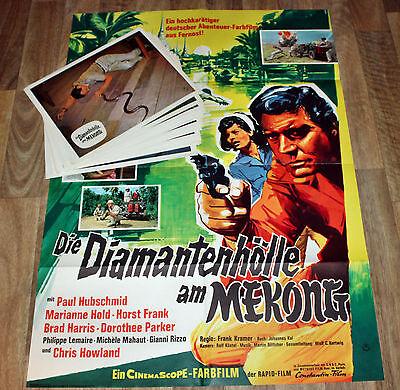 DIE DIAMANTENHÖLLE AM MEKONG -EDGAR WALLACE- 15 Fotos+ Org. Plakat A1- H. Frank