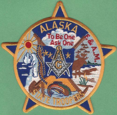 ALASKA STATE TROOPER POLICE MASONIC LODGE SHOULDER PATCH