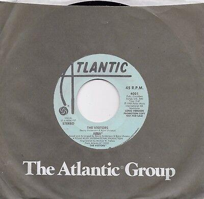 ABBA  The Visitors  2 versions  rare promo 45 from 1981