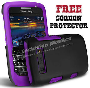 NEW HYBRID SILICONE CASE COVER & SCREEN PROTECTOR FITS BLACKBERRY BOLD 9700 9780