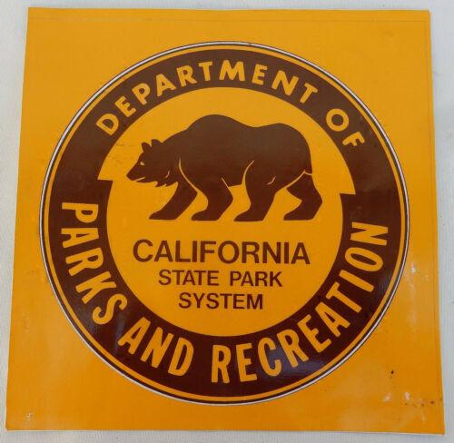 Vtg. California State Park System Department of Parks & Recreation Large Sticker
