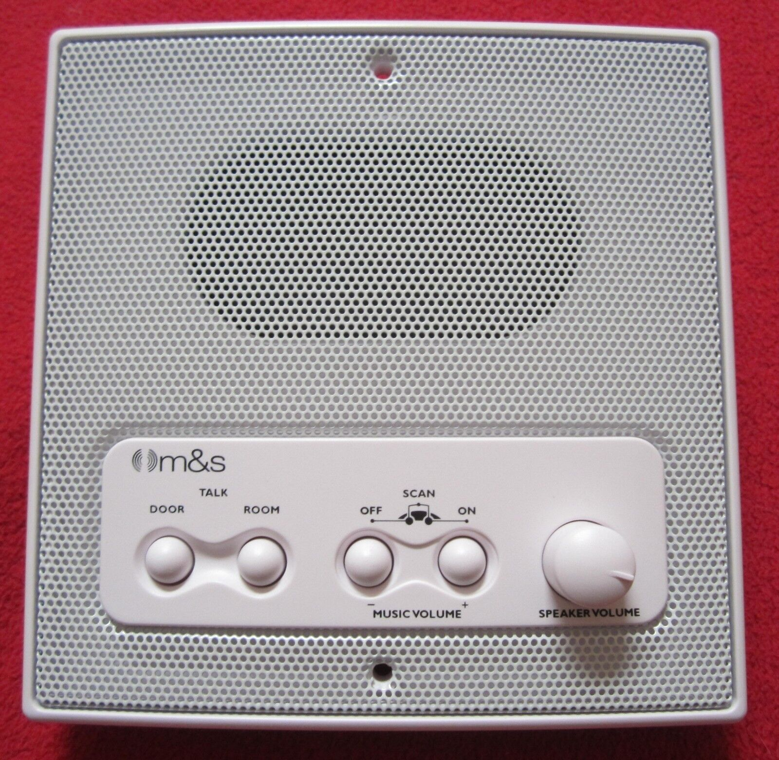 New M&S DMC3RS Three Wire Intercom Room Station - White