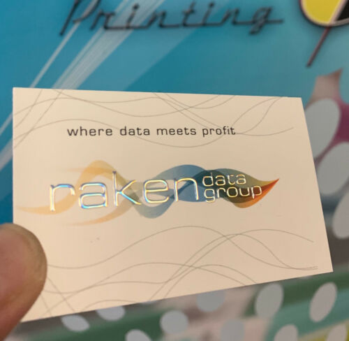 250 Soft touch, NEW raised foil business card, only 1 time to make a first impre