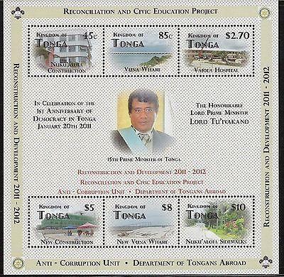 Tonga- Scott 1177 Reconstruction and Development, MNH Souvenier Sheet CV $30