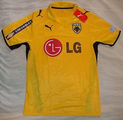 AEK Athens 2008 - 2009 home football shirt soccer jersey, Puma, size S, BNWT image