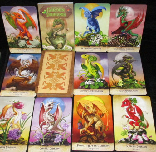 SEALED NEW ~ FIELD GUIDE TO GARDEN DRAGONS ORACLE CARDS & BOOK FANTASY
