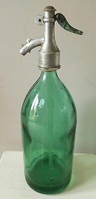 Vintage Romanian Seltzer Soda Syphon green glass
