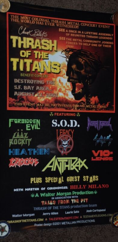 #67 Testament Thrash Of The Titans Official Poster