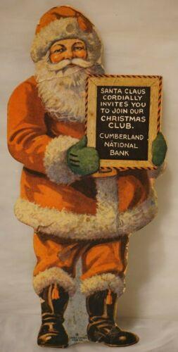 Cumberland National Bank New Jersey Santa Claus Paper Christmas Tree Ornament