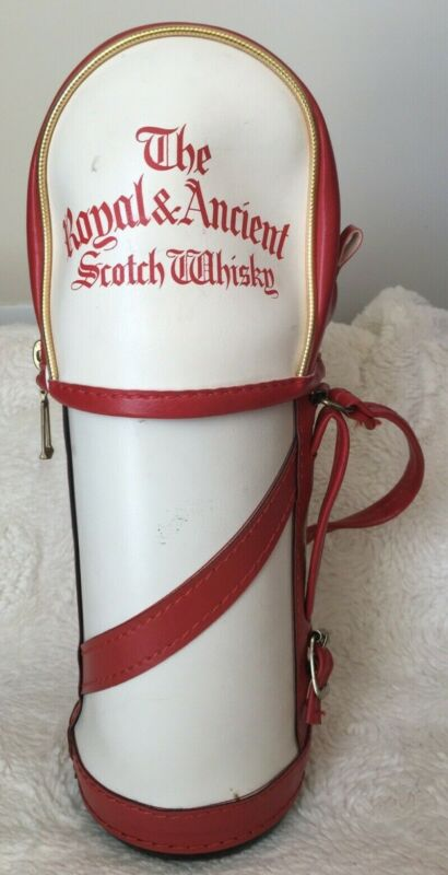 Vintage Scotch Whisky The Royal & Ancient Mini Golf Bag Bottle Holder Scotland