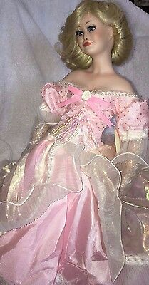 """Paradise Galleries Cinderella Porcelain Doll made by Paradise Galleries 18"""""""