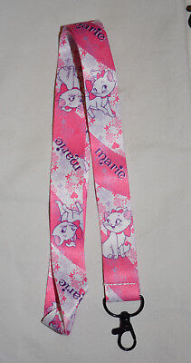 Disney lanyard MARIE from Aristocats for pin trading or key chain NEW