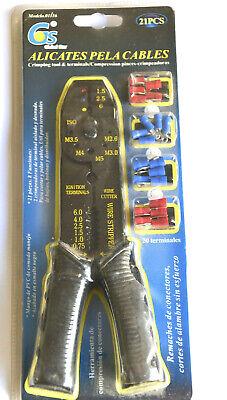 Alicates Aislados Cortadora con Pela Cables con Terminales Eléctricos PRO