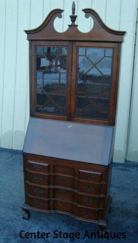 61719 Maddox Mahogany Secretary Desk w/ Bookcase Top