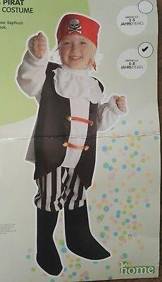 Pirat Kinderkostüm 6-8 Jahre, NEU in OVP ()