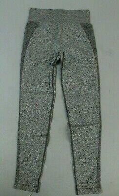 Gymshark Women's Flex High Waisted Legging Charcoal/Pastel Grape KB8 Size Medium
