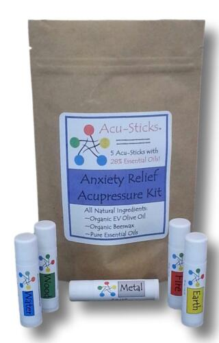 Acupressure Kit for Anxiety & Panic Attacks-Directions, Photos, Essential Oil