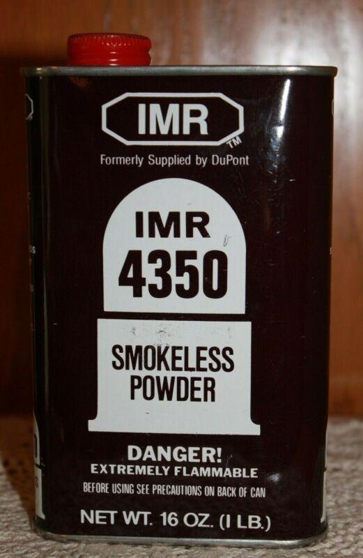 Vintage IMR 4350 DUPONT SMOKELESS POWDER METAL CAN Black Tin ~ 1 LB. Empty
